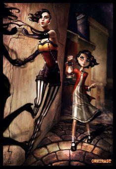 Contrast, indie game, vaudeville, 1920s, jazz, electro jazz, film noir, female protagonists, Didi, Dawn