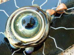 Lampwork Glass Pendant P10Bor15gEye Ugly by AlexandersDesigns, $20.00