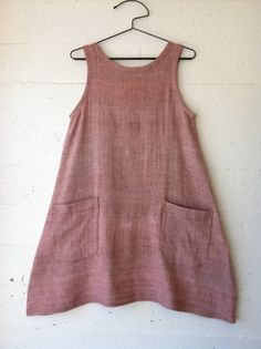 dress 5 materials: Indian khadi, handwoven cotton donated by A Verb for Keeping Warm pattern: dress no. 1