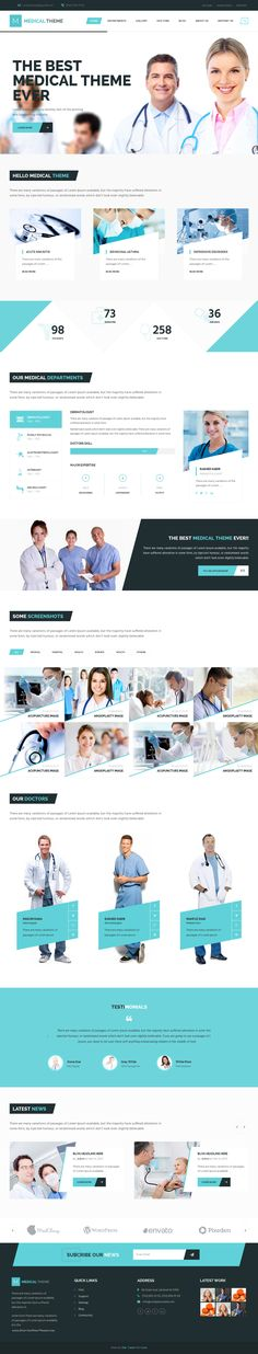 Bulldozer is an multipurpose premium Bootstrap Niche template. #Medical #hospital #webdesign