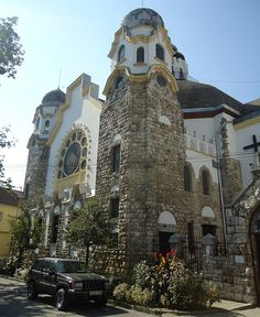 The former synagogue of the Kobannya Jewish community, 10th District, Budapest is one of the Secession landmarks ,built by Richard Schontheil in 1911