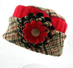 Pillbox Style Hat from Up-cycled Felted Wool ♥ by upcloseandpersonal, $35.00