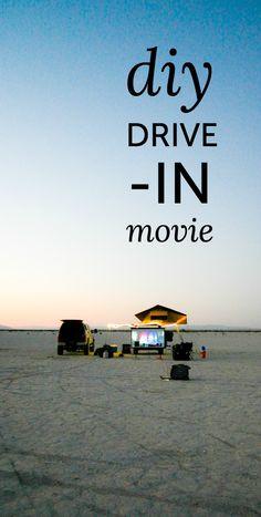 DIY drive-in movie c