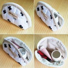 How to sew cosmetic bag purse. DIY Picture Tutorial.  Quilting and patchwork.  Сумка-косметичка - квилтинг и пэчворк.