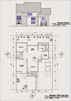 Inilah Gambar Denah Desain Rumah Minimalis Dengan 4 Kamar Tidur Container Home Designs, Beautiful House Plans, Dream House Plans, House Front Design, Small House Design, Minimalist House Design, Minimalist Home, Affordable Bedroom Sets, Civil Engineering Design