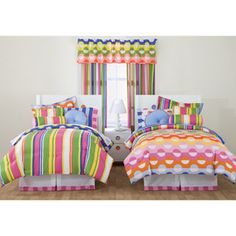 Little Miss Matched Reversible Bed-in-a-Bag Bedding Set, White Zany