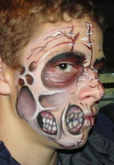 Zombie makeup. I want to try this.