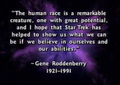 Image result for gene roddenberry quotes
