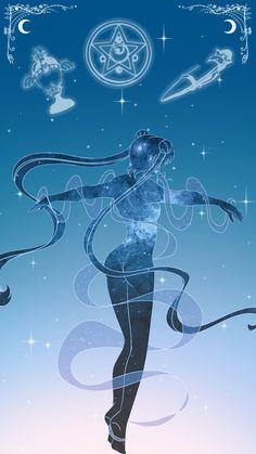 Sailor Moon Lockscreen, Sarah Meadows on ArtStation at https://www.artstation.com/artwork/GLo94
