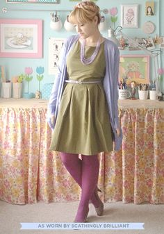 Seams Like Only Yesterday Dress. Feeling nostalgic for styles of old? #green #modcloth
