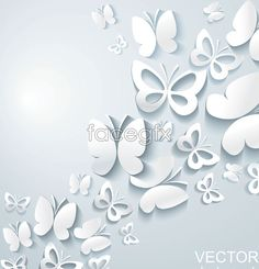 Butterfly decoration ideas background vector