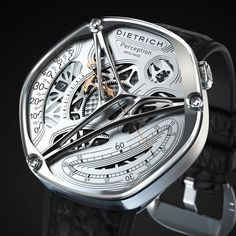 """Dietrich First complication, The """"Secondes relatives"""" display at 5 o'clock. Second complication : """"Heures vagabondes"""" 24 hours indication at 9 o'clock."""