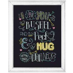 Hug Chalkboard - Cross Stitch, Needlepoint, Embroidery Kits – Tools and Supplies
