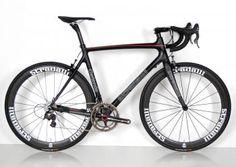 """Catania"" 53 cm Full Carbon Road Bike. Campagnolo Super Record Ti 11 Speed Campy. 50mm Clinchers"
