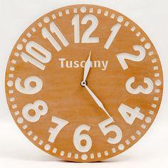 Clock -Tuscany - pseudo vintage terracota