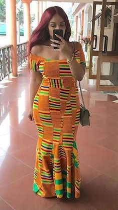 Hey Guys, We have selected some of the finest Kente styles that can fit your personality. Every one of us is a boss chic depending how we look at what we do. African Prom Dresses, African Dresses For Women, African Attire, African Wear, African Women, African Fashion Ankara, Ghanaian Fashion, African Print Fashion, African Prints
