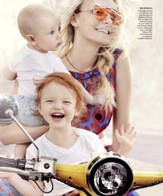 Model Caroline Trentini is lensed by Mario Testino with her two children Bento Jacob and Benoah in 'Home Chic Home'. Tonne Goodman styled the Brazilian-born Caroline for Vogue US March Hair by Max Weber; Mario Testino, Vogue Home, Vogue Us, Celine, Valery Kaufman, Caroline Trentini, Manhattan Hotels, Edie Campbell, Elle Us