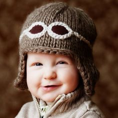 Baby Aviator Hat  -