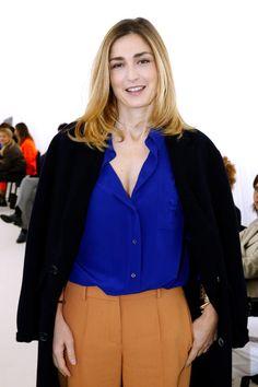 Julie Gayet au défilé Balenciaga printemps-été 2017