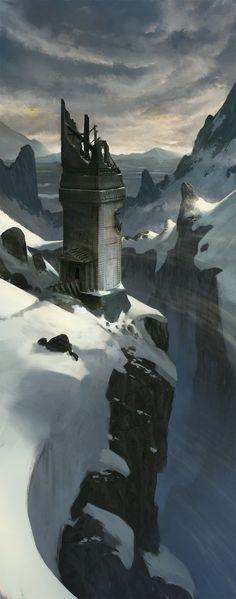 Tower of Viondor, Klaus Pillon on ArtStation at http://www.artstation.com/artwork/tower-of-viondor