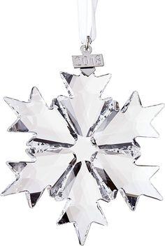 Swarovski Christmas Ornaments, Large Christmas Ornaments, Snowflake Ornaments, Star Ornament, Christmas Snowflakes, Hanging Ornaments, Christmas Tree, Christmas Decorations, Little Snowflake