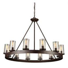 Filament Design Normanrockwell 12-Light Dark Brown Chandelier