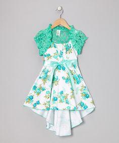 Mint Bow Dress Set