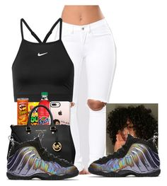 """Your Girl wanna party with a Savage~21 Savage"" by her-niya on Polyvore featuring NIKE, Casetify and MICHAEL Michael Kors"