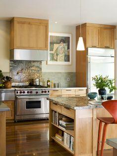 Kitchen - contemporary - kitchen - san francisco - Andre Rothblatt Architecture bookshelf