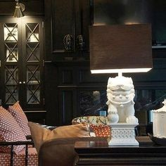 Foo Dog Lamp, Eclectic, living room, Megan Winters