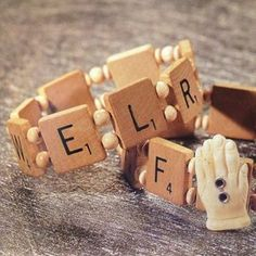 13 Fun Projects Using Scrabble Pieces Scrabble Pieces Crafts, Scrabble Letter Crafts, Scrabble Tile Jewelry, Scrabble Art, Scrabble Tiles, Wooden Alphabet, Crafts To Sell, Fun Crafts, Recycle Crafts
