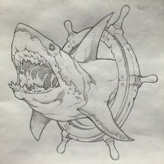 Every tattoo could have a different meaning depending with the symbol which has been used as the principal component in the tattoo. Shark tattoo is usually employed by men. Shark tattoos are a few of the most coveted body arts… Continue Reading → Tattoo Sketches, Tattoo Drawings, Art Sketches, Art Drawings, Drawings Of Sharks, Hai Tattoos, Body Art Tattoos, Animal Sketches, Animal Drawings