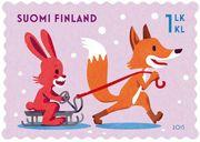 Alkuvuoden 2015 postimerkit juhlistavat ystävänpäivää, muodostelmaluistelua ja Suomen taiteilijaseuraa - Posti Group Oyj