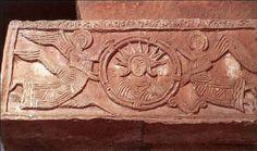Sol & angels, Santa Maria de Quintanilla de las Vinas, 7th-8thc  Visigothic frieze