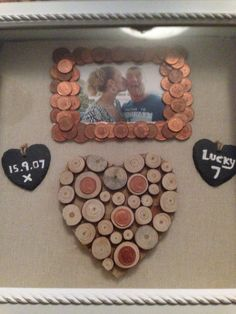 Seven year copper anniversary gift to my wife. Pallet wood hand ...
