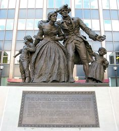 United Empire Loyalists Statue And Monument- outside Wentworth County Courthouse