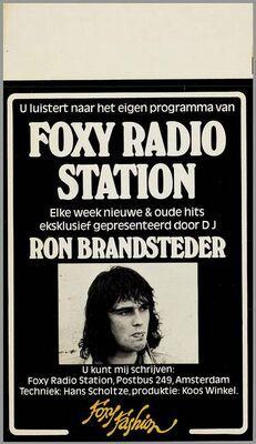 'Foxy Radio Station' Advertentie van Foxy Fashion met Ron Brandsteder