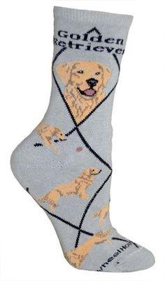 Golden Retriever Dog Breed Gray Lightweight Stretch Cotton Adult Novelty Socks