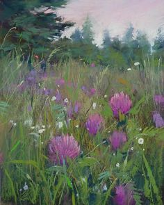 """622 Likes, 15 Comments - Karen Margulis (@karenmargulis) on Instagram: """"Inspired by a wild and tangled Meadow 'Down in the Clover' 10x8 pastel #inspiration #meadow…"""""""