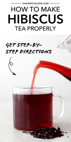 See how to brew hibiscus tea correctly to make the perfect cup of hot or iced hibiscus tea each and every time. See step-by-step guide with photos. Hibiscus Tea, Hibiscus Flowers, Tea Companies, Tea Sandwiches, Brewing Tea, Tea Blends, Herbal Tea, Tea Recipes, High Tea