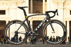 Fabian Cancellara's custom painted Trek Madone for Milano-Sanremo