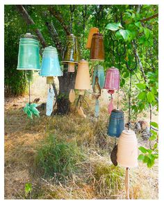 Pottery Wind Chimes by rikablue on Etsy, $20.00