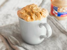Glutenfreier Erdnussbutter-Tassenkuchen - mit 3 Zutaten