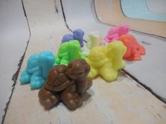 Turtle Soap (4 pk)-Party Favor-Baby Shower-Bridal Shower Favors-Birthday Favors-Kids Gift-Soap Favors-Beach Soap-Homemade-Novelty-Reptile