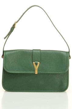 Yves Saint Laurent M. Chabas Chyc Shoulder Bag In Green