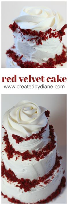 Delicious Southern Red Velvet Cake with Cream Cheese Frosting