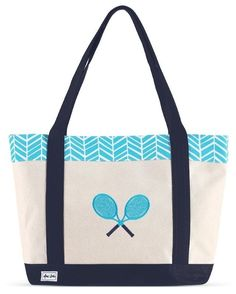 Check out this Surf Ame & Lulu Ladies Tennis Lovers Tote Bag! Find the best Tennis Accessories at nicolestennisboutique.com