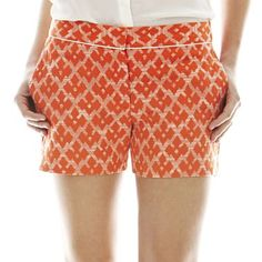 Joe Fresh™ Piped Jacquard Shorts - jcpenney