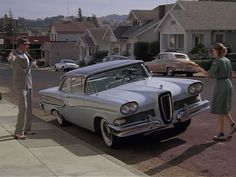 "Peggy Sue (Kathleen Turner's) father, played by Don Murray brings home an EDSEL in 1986's ""Peggy Sue got Married""."