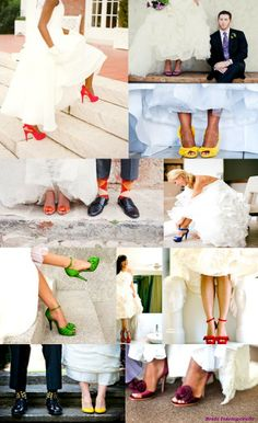 chaussures-colorées-mariage-bride-intemporelle Bridal Shoes, Wedding Shoes, Wedding Day, Wedding Dresses, Marry Me, Wedding Decorations, Wedding Inspiration, My Style, Shopping
